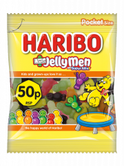 Haribo 50p Little Jelly Men Pocket Size 70g