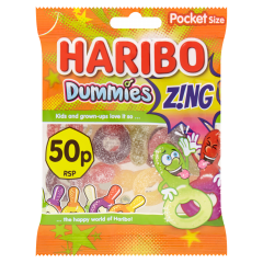 Haribo 50p Dummies Z!ng Pocket Size 70g