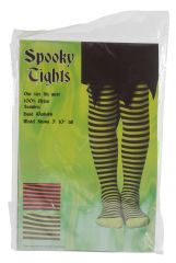 Halloween Spooky Striped Tights