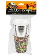 Halloween Design 9oz Paper Cups Pack Of 12