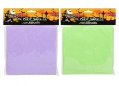 Halloween Napkins 33cm x 33cm 2 Ply 3 Assorted Pack Of 24