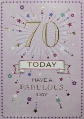 Female Birthday Card 70th