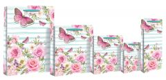 Gift Bag Perfume Floral Stripe