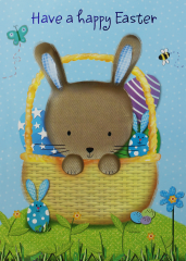 Wholesale Easter Card - Open - Bunny