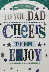 Wholesale Father's Day Card - Dad - Cheers