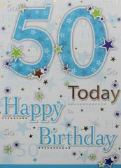 Male Birthday Card 50th