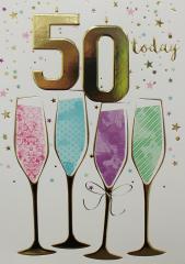 Female Birthday Card 50th