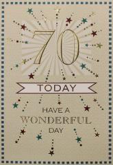 Male Birthday Card 70th