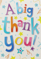 Wholesale A Big Thank You card