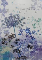 Wholesale Sympathy card - Thinking of you - Leaves