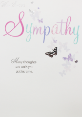Wholesale Sympathy card - Thinking of you - Butterfly