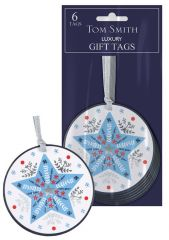 Tom Smith 6 Festive Folk Gift Tags Hang Pack