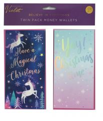 2 Believe In Christmas Money Wallets Hang Pack