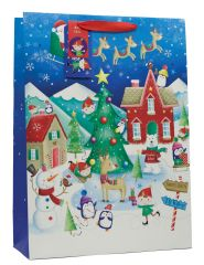 Gift Bag Extra Large Christmas Village