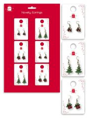 Novelty Christmas Earrings 3 Assorted Designs