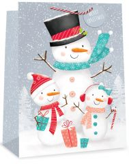 Jumbo Gift Bag Snowman 2 Assorted Designs 400mm x 560mm