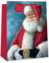 Jumbo Gift Bag Santa 2 Assorted Designs 400mm x 560mm