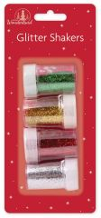 4 Assorted Glitter Shakers Hang Pack