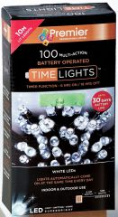 Wholesale 100 Multi Action LED White Lights (Battery Operated)