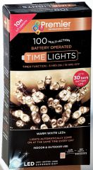 Wholesale 100 Multi Action LED Warm White Lights (Battery Operated)