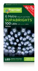 100 Multi Action LED Supabrights White Lights