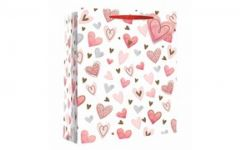 Valentine Gift Bag Perfume Scattered Hearts