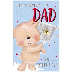 Father's Day Card - Cute Bear Jumbo