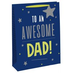 Gift Bag Extra Large Wide Gusset - Awesome Dad