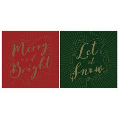 12 Merry & Bright Cards In Acetate Box