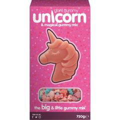 Giant Gummy Unicorn & Magical Gummy Mix 720g