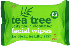 Tea Tree Cleansing Facial Wipes 25's Twin Pack