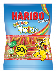 Haribo 50p Rainbow Twists Pocket Size 70g