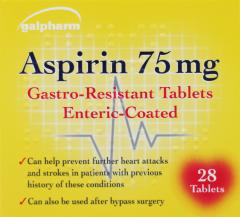 Galpharm Aspirin 75mg Tablets 28's