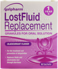 Galpharm Lost Fluid Replacement Granules Sachets 6's