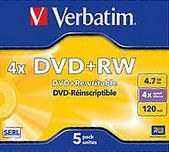 DVD+RW Verbatim 4 x 4.7Gb