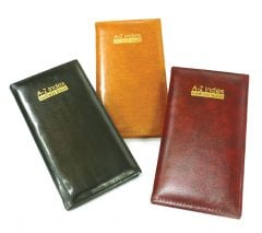 Slim Executive Padded Address Book 3 Assorted Colours