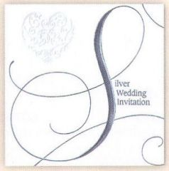 Foil Silver Wedding Invitation Pack
