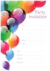 Party Invitation Pads and Envelopes Birthday
