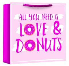 Love & Donuts Woven Bag For Life Medium Square W250 x H258 x D110mm