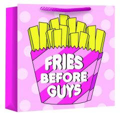 Fries Before Guys Woven Bag For Life Medium Square W250 x H258 x D110mm