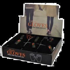 Mens Black Magic Gloves in Display Unit