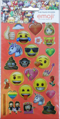 Licensed Character Stickers Small Foil Packs - Emoji 2