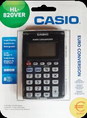 Casio HL820VER Pocket Calculator with Euro Conversion 8 Digit