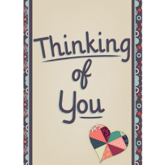 Card Thinking Of You Patchwork Heart