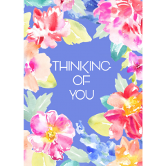 Card Thinking Of You Flowers