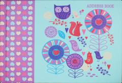 Landscape A5 Woodland Casebound Address Book (210mm x 148mm)