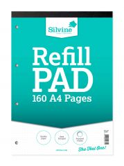 Silvine A4 Refill Pad 5mm Dot Grid Teal Cover