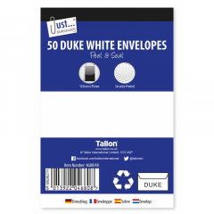 Duke White Envelopes 50's