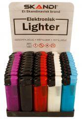 Skandi Electronic Lighter Assorted Colours CDU