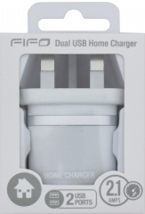 FIFO Colours Dual Home Charger Assorted Colours